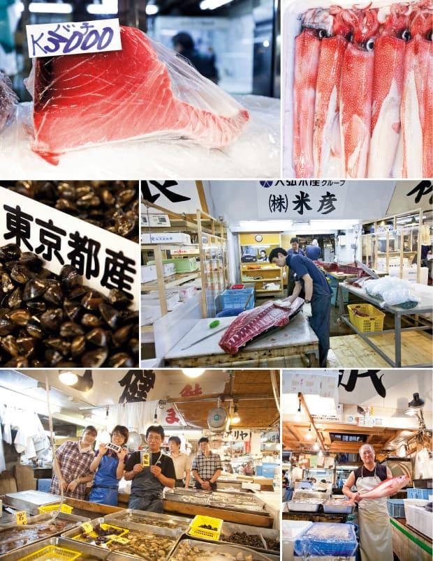 Eindrücke von Tokios Fischmarkt Tsukiji