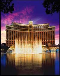 Das Bellagio in Las Vegas während der Wassershow
