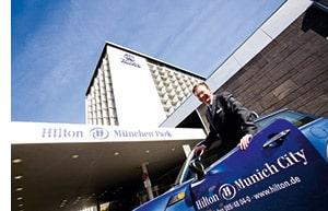 Das Hilton Hotel in München
