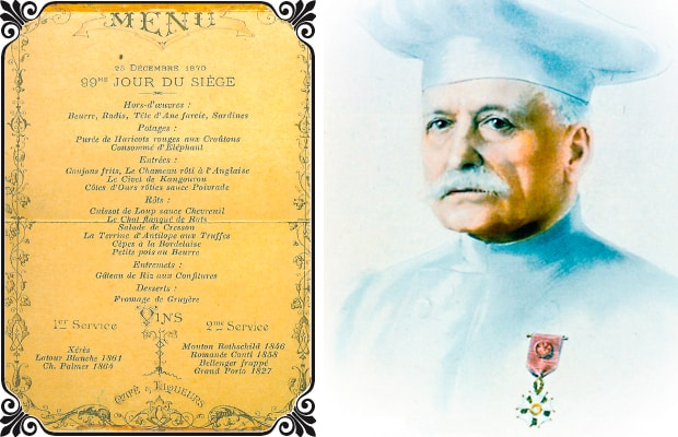 Auguste Escoffiers Menu