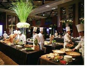 ein Hotelbuffet in Japan