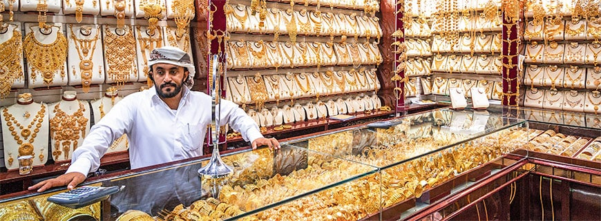 Alles Gold: Im Deira-Markt im alten Stadtkern befindet sich die größte Einkaufsstraße