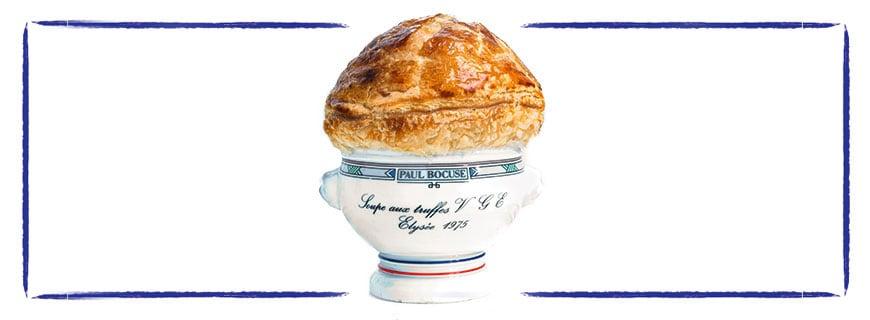 Bocuse' legendäre Trüffelsuppe ist dem ehemaligen Präsidenten Frankreichs, Valéry Giscard d'Estaing, gewidmet