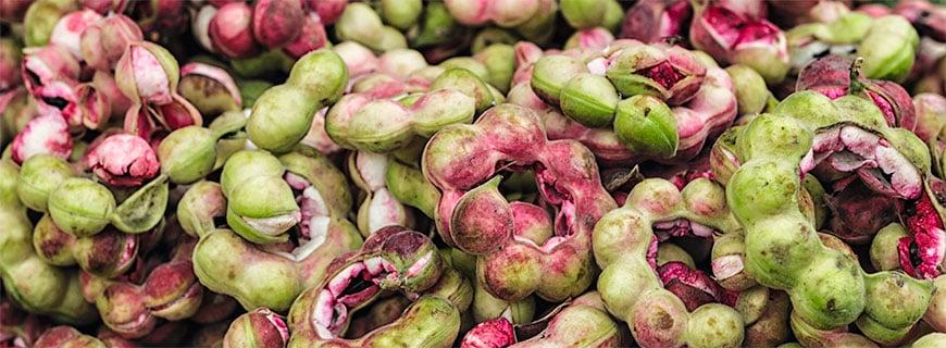 Tamarinden am Markt: Außergewöhnliches Obst und Gemüse prägt die philippinische Küche.