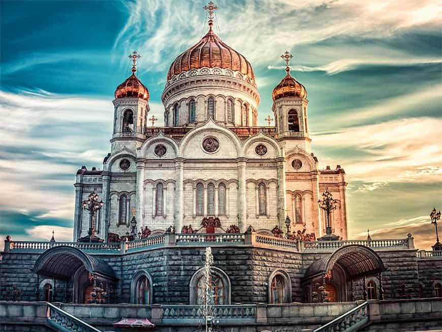Zwischen Menschenmassen und gelassener Ruhe: Die Christ-Erlöser-Kathedrale gehört zu den schönsten Sightseeing-Orten