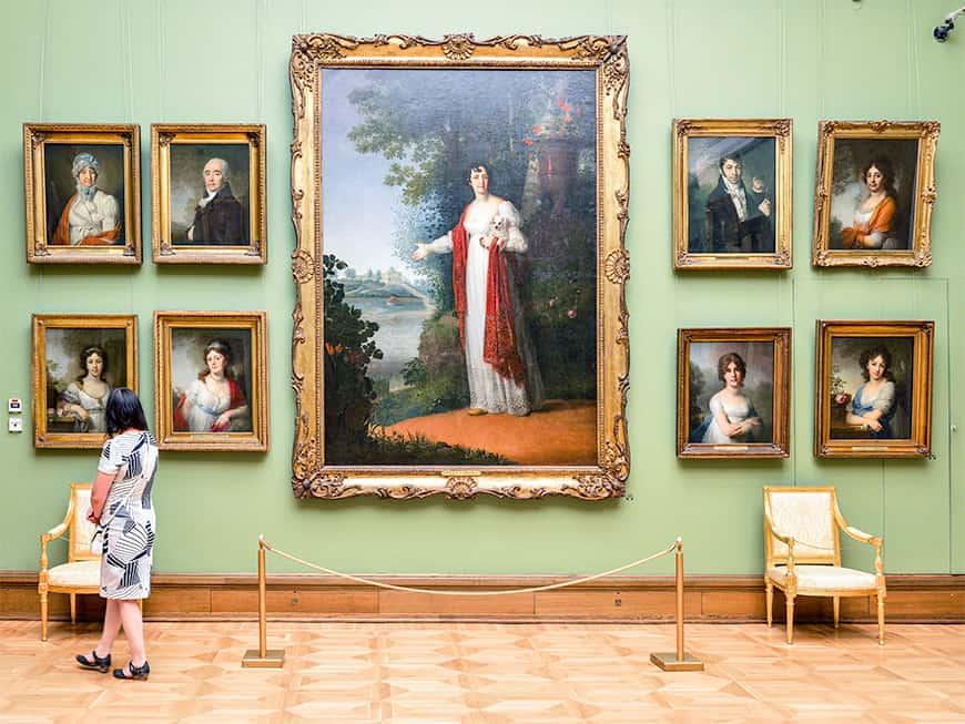 Kunstmuseum: In der staatlichen Tretjakow- Galerie gibt es 140.000 Werke zu bewundern